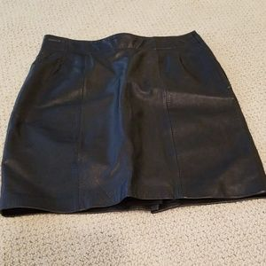 Leather mini skirt